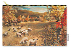 Sheep In October's Field Carry-all Pouch