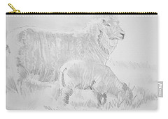Sheep Lamb Pencil Drawing Carry-all Pouch