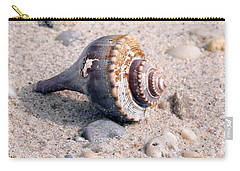 Carry-all Pouch featuring the photograph Shell by Karen Silvestri