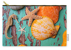 Shells On Old Green Board Carry-all Pouch