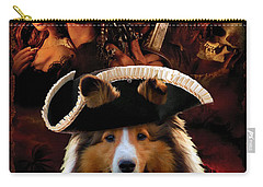 Sheltie - Shetland Sheepdog Art Canvas Print - Pirates Of The Caribbean The Curse Of The Black Pearl Carry-all Pouch