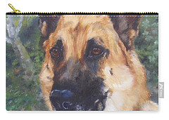 Carry-all Pouch featuring the painting Shep by Lori Brackett