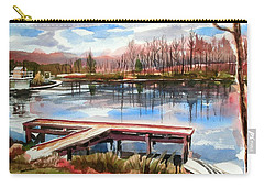 Shepherd Mountain Lake In Winter Carry-all Pouch