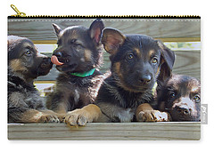 Shepherd Pups 5 Carry-all Pouch