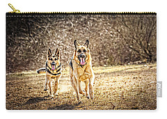 Shepherds On The Run Carry-all Pouch by Eleanor Abramson