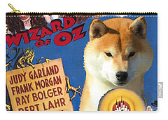 Shiba Inu Art Canvas Print - The Wizard Of Oz Movie Poster Carry-all Pouch