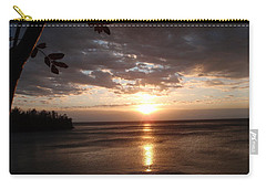 Carry-all Pouch featuring the photograph Shimmering Sunrise by James Peterson