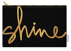 Shine On Black Carry-all Pouch
