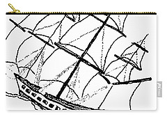 Ship - Boat - Revolutionary War Carry-all Pouch by Susan Carella