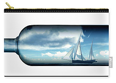 Carry-all Pouch featuring the digital art Ship In Bottle... by Tim Fillingim