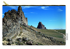 Carry-all Pouch featuring the photograph Shiprock by Alan Socolik