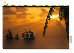 Ships And The Golden Dawn... Carry-all Pouch by Tim Fillingim