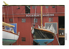 Ships In Waiting Carry-all Pouch by Jean Goodwin Brooks