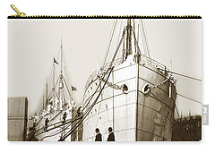 Carry-all Pouch featuring the photograph Steam Ships San Francisco California   Circa 1900 Historical Photo by California Views Mr Pat Hathaway Archives