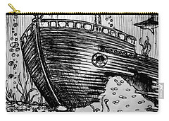 Carry-all Pouch featuring the painting Shipwreck by Salman Ravish