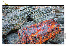 Carry-all Pouch featuring the photograph Shipwrecked ? by Miroslava Jurcik