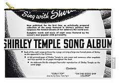 Shirley Temple Song Album Carry-all Pouch by Mel Thompson