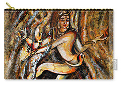 Carry-all Pouch featuring the painting Shiva Eternal Dance by Harsh Malik