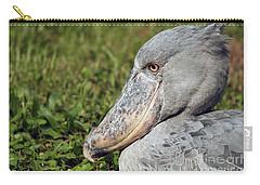 Carry-all Pouch featuring the photograph Shoebill Balaeniceps Rex by Liz Leyden