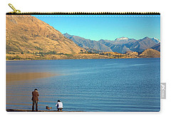 Carry-all Pouch featuring the photograph Shooting Ducks On Lake Wanaka by Stuart Litoff
