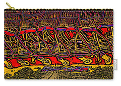 Shopping Carts Carry-all Pouch by Richard Farrington