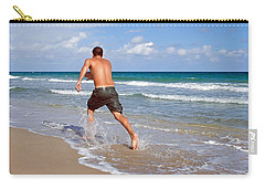 Carry-all Pouch featuring the photograph Shore Play by Keith Armstrong