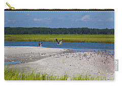 Shorebirds And Marsh Grass Carry-all Pouch