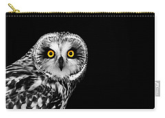 Short-eared Owl Carry-all Pouch by Mark Rogan