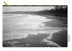 Winter At Wickaninnish Beach Carry-all Pouch by Roxy Hurtubise