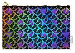 Shreaded Patterns And Textures Carry-all Pouch