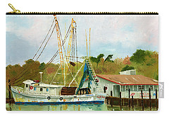 Shrimp Boat At Dock Carry-all Pouch