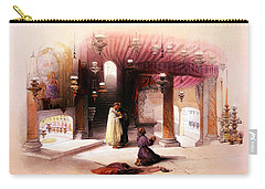 Shrine Of The Nativity Bethlehem April 6th 1839 Carry-all Pouch