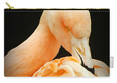 Carry-all Pouch featuring the photograph Shy by Clare Bevan