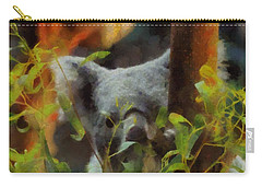 Shy Koala Carry-all Pouch by Dan Sproul