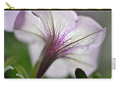 Carry-all Pouch featuring the photograph Shy Petunia by Larry Bishop