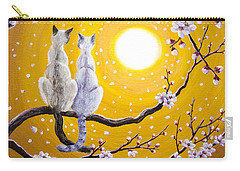 Siamese Cats Nestled In Golden Sakura Carry-all Pouch