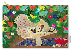 Siameses En Chaise Con Flores Limited Edition 2 Of 15 Carry-all Pouch