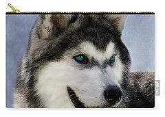 Siberian Husky Carry-all Pouch by Linsey Williams