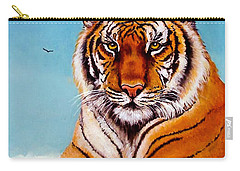 Carry-all Pouch featuring the painting Siberian King Tiger by Bob and Nadine Johnston