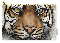Siberian Tiger Closeup Carry-all Pouch