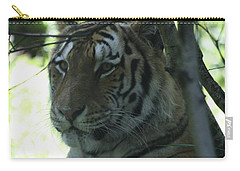 Siberian Tiger Profile Carry-all Pouch by John Telfer