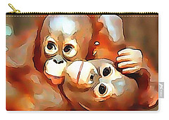 Siblings Carry-all Pouch by Catherine Lott