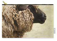 Side Face Of A Sheep Carry-all Pouch by Priska Wettstein