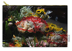 Carry-all Pouch featuring the photograph Sidewalk Flower Shop by Lilliana Mendez