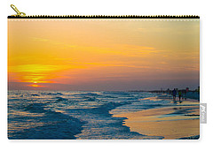 Siesta Key Sunset Walk Carry-all Pouch by Susan Molnar