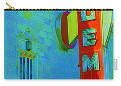 Sign - Gem Theater - Jazz District  Carry-all Pouch by Liane Wright