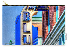 Sign - The Blue Room - Jazz District Carry-all Pouch by Liane Wright