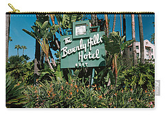 Signboard Of A Hotel, Beverly Hills Carry-all Pouch by Panoramic Images