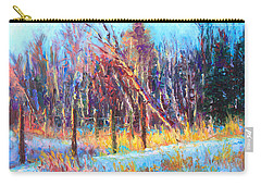 Signs Of Spring - Trees And Snow Kissed By Spring Light Carry-all Pouch