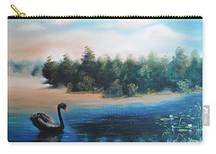 Carry-all Pouch featuring the painting Silence by Vesna Martinjak